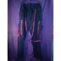 M0dd3d R3duX - TFC - Burgundy Hemp Straps Pants