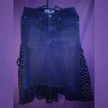 M0dd3d R3duX - Black Jean & Polka Dot Skirt